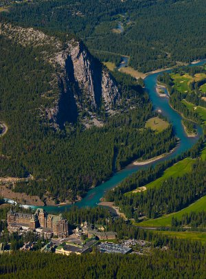 The Bow River, at Banff in the Rockies, west of Calgary