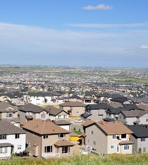 New Houses, Calgary Suburban Sprawl