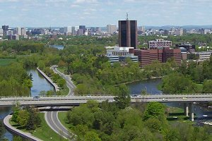 Carleton University with Rideau River and Canal