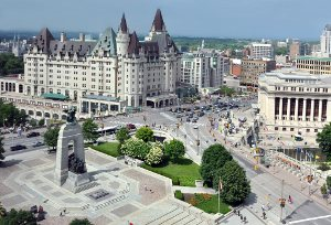 National War Memorial and Chateau Laurier