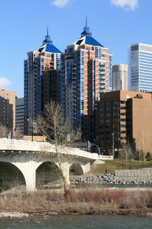 Apartments on the Bow River in Calgary